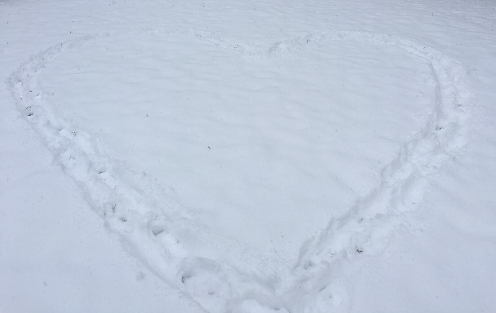 Vorbereitungen im Schnee